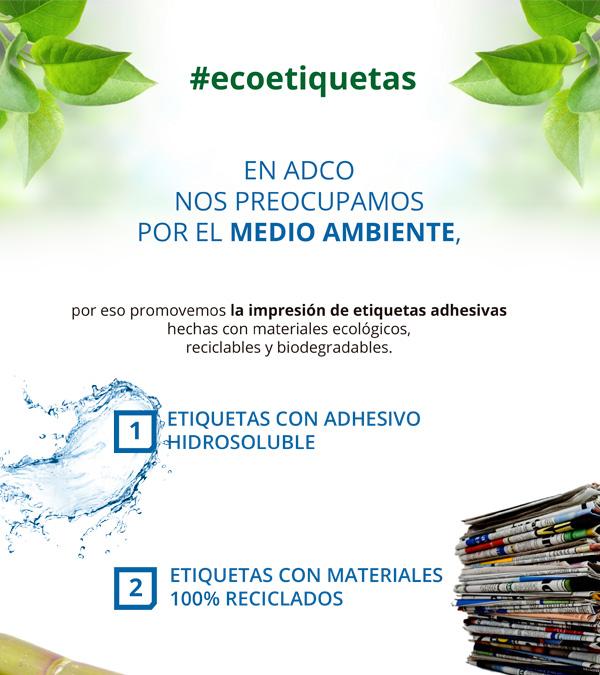 ecoetiquetas comprometidos con el medio ambiente